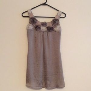 Studio Y Polyester Dressy Tank with Flower Detail